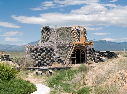 earthship in Taos shutterstock_31652692