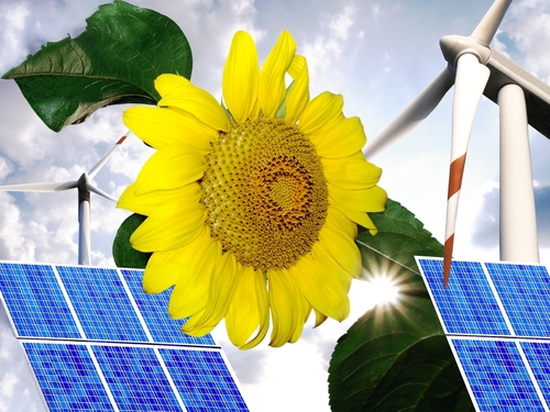 clean energy montage shutterstock_42238996