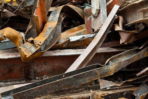 Old steels girders that will be recycled