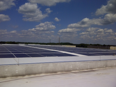 IKEA, the world's leading home furnishings retailer, today officially plugged-in the solar energy system installed at its distribution center in Westampton, New Jersey. (Photo: Business Wire)