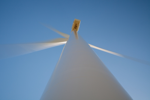 wind turbine in motion shutterstock_144172477