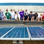 Students participate in a solar activity at Chatfield High School in Littleton, CO. Photo credit: National Renewable Energy Laboratory
