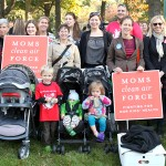 Stroller Brigade participants gather for a rally today at the Capitol in DC. Photo credit: Safer Chemicals Healthy Family