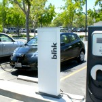 A charging station at the offices of the South Coast Air Management District. Photo credit: California Energy Commission