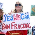 Daryl Hannah at a Washington, D.C., anti-fracking rally in August. Photo credit: Getty Images