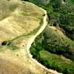 Satellite image of the Haitian/Dominican border