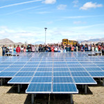 Students at Pyramid Lake High School in Nixon, NV receive some of their power from a solar installation from Black Rock Solar. Photo credit: Black Rock Solar/Flickr Creative Commons