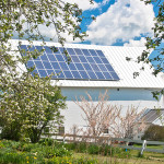 Solar panels on a barn on a Vermont farm. Photo courtesy of Shutterstock