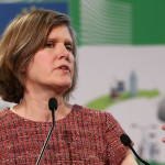 Dr. Sandra Steingraber speaking at the New Environmentalism Summit in Brussels, Belgium. Photo credit: HEAL on flickr.