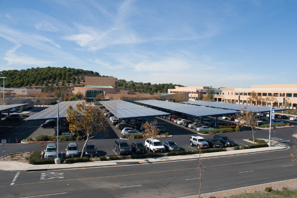 M Bar C installed carports at Northwood High School in Irvine, Calif., part of a six-site job for the school district.
