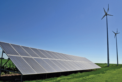 G6 Power Solutions has created a niche in Iowa with its hybrid system that uses solar panels and wind turbines.